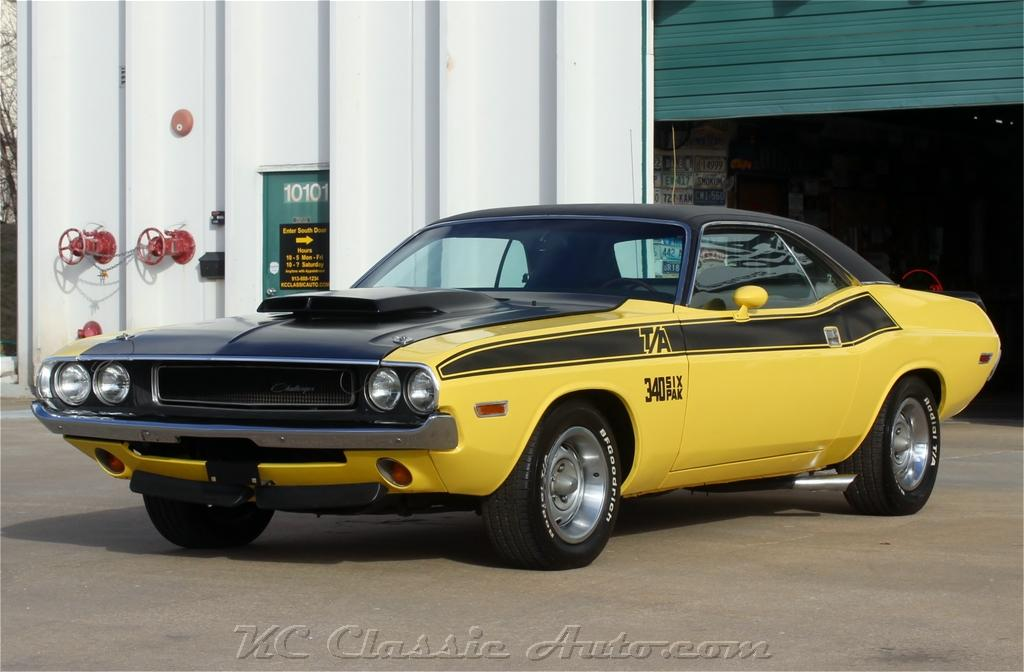 1970 Dodge Challenger T/A Build Sheet #s matching 340 six pack